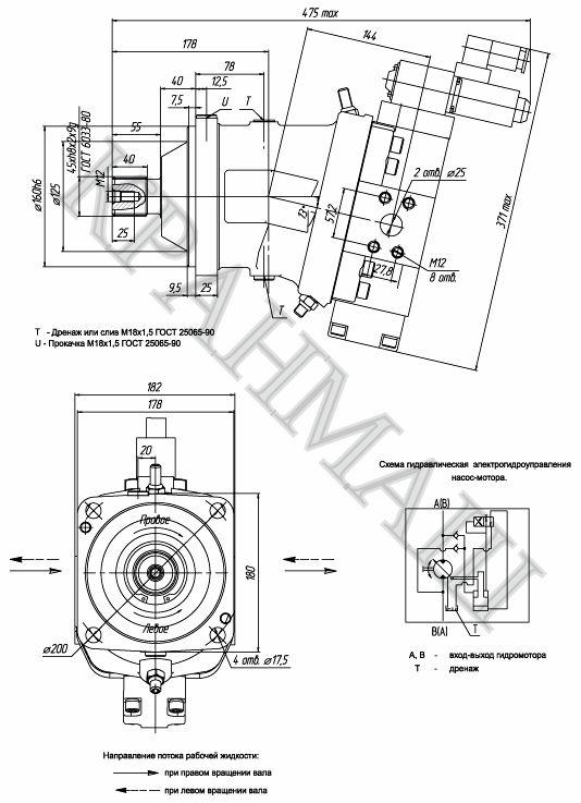 Насос-мотор МГЭ 112/32 303.3.112.503